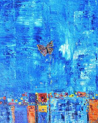 Painting - Butterfly In The Wind by Evelina Popilian