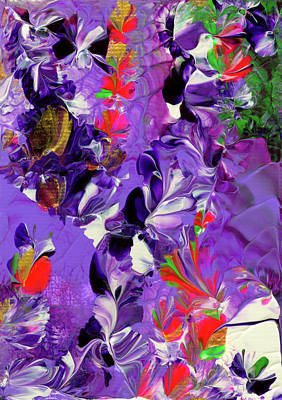 Painting - Butterfly Island Treasures by Nan Bilden