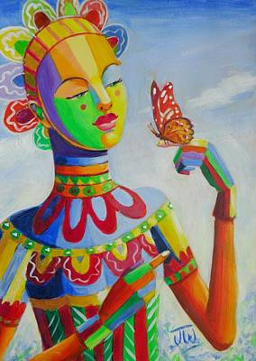 Painting - Butterfly by June Walker