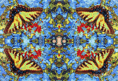Digital Art - Butterfly Kaleidoscope by Diane Macdonald