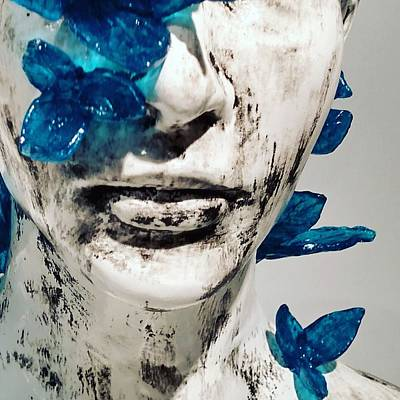 Mixed Media - Butterfly Kiss  by Cynthia Conte
