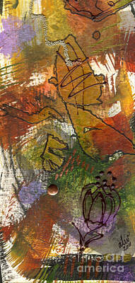 Mixed Media - Butterfly Kisses by Angela L Walker
