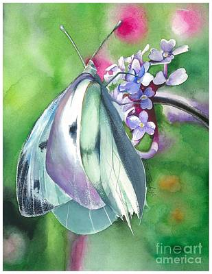 Butterfly Kisses Art Print by Maya Marcotte