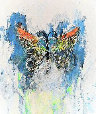 Digital Art - Butterfly Knowledge Painting By Lisa Kaiser by Lisa Kaiser