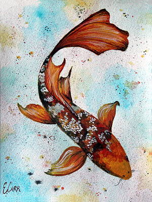 Butterfly Koi Original by Erin Hissong