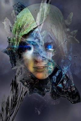 Digital Art - Butterfly Lady by Richard Ricci