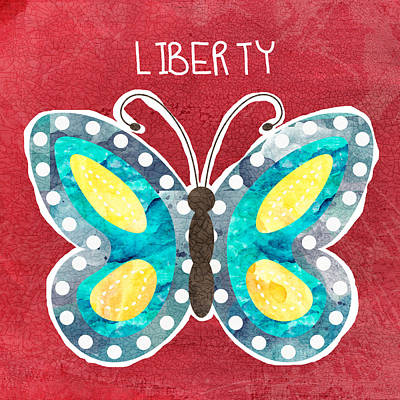 Royalty-Free and Rights-Managed Images - Butterfly Liberty by Linda Woods