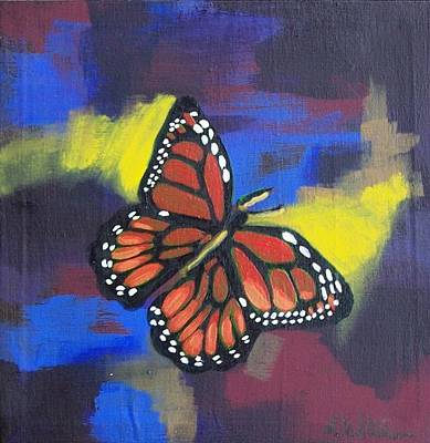 Painting - Butterfly by Liz Adkinson