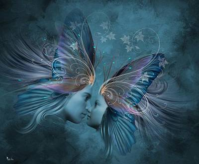 Digital Art - Butterfly Love by Ali Oppy