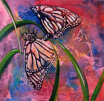 Painting - Butterfly Love by AnnaJo Vahle