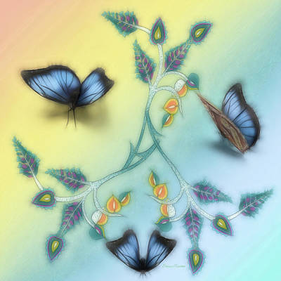 Digital Art - Butterfly Love by Ericamaxine Price