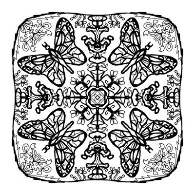 Digital Art - Butterfly Mandala by Tanya Provines