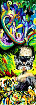 Masquerade Card Mixed Media - Butterfly Masquerade by Genevieve Esson