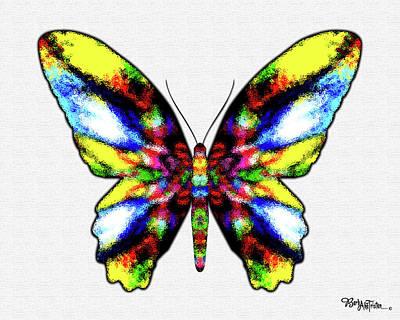 Digital Art - Butterfly Messenger #027 by Barbara Tristan