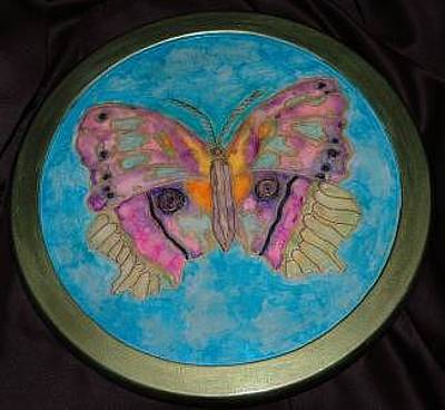 Lazy Mixed Media - Butterfly by Mickie Boothroyd