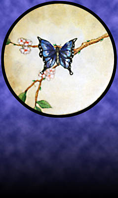 Painting - Butterfly Moon by Janice T Keller-Kimball
