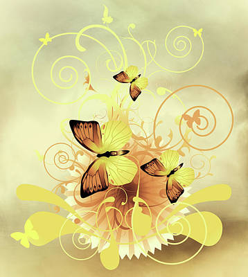 Mixed Media - Butterfly Morning Contemporary Art by Georgiana Romanovna