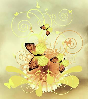 Mixed Media - Butterfly Morning Contemporary Art by Georgiana Romanovna