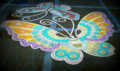 Photograph - Butterfly Mosaic by Karen J Shine