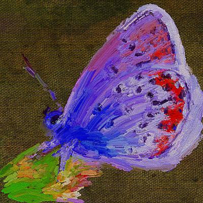 Digital Art - Butterfly On Canvas by Yury Malkov