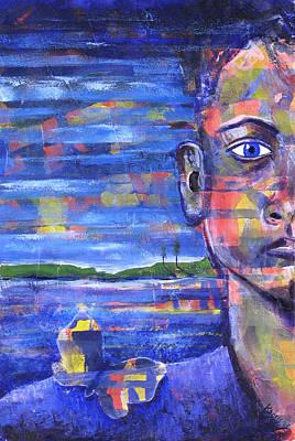 Butterfly On My Shoulder Art Print by Rollin Kocsis