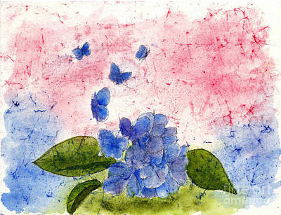 Butterflies Or Hydrangea Flower, You Decide Art Print