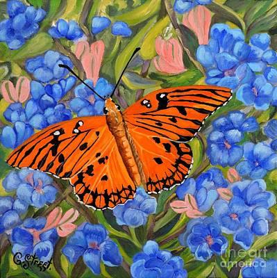 Painting - Butterfly Orange by Caroline Street