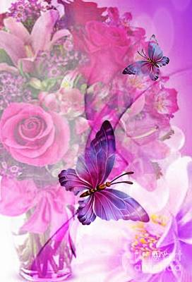 Digital Art - Butterfly Paradise by Maria Urso