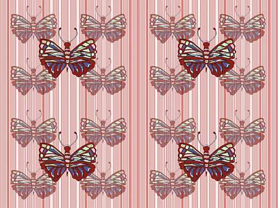 Butterfly Pattern Print by Kathleen Sartoris