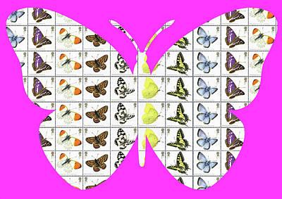 Digital Art - Butterfly - Pink by Gary Hogben