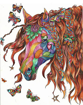 Painting - Butterfly Pony by Sherry Shipley