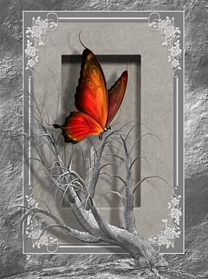 Digital Art - Butterfly Pop by Ali Oppy