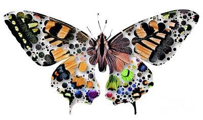 Kingfisher Digital Art - Butterfly Pop Art by Mary Bassett