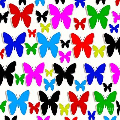 Digital Art - Butterfly Pretty Colors Pattern by Saundra Myles