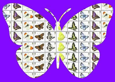 Digital Art - Butterfly - Purple by Gary Hogben