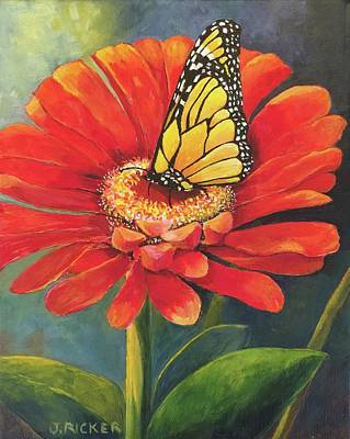 Painting - Butterfly Rest by Jane Ricker