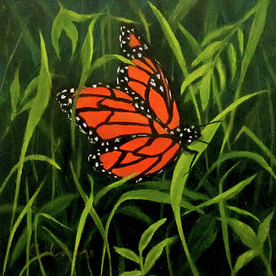 Painting - Butterfly by Roseann Gilmore