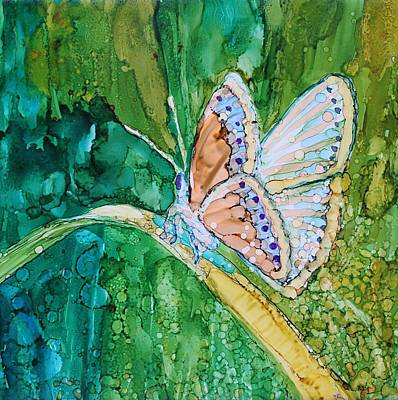 Butterfly Art Print by Ruth Kamenev