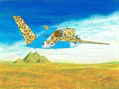 Butterfly Salamander Original by Dave Herrling