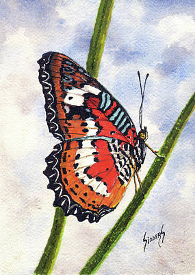 Painting - Butterfly by Sam Sidders
