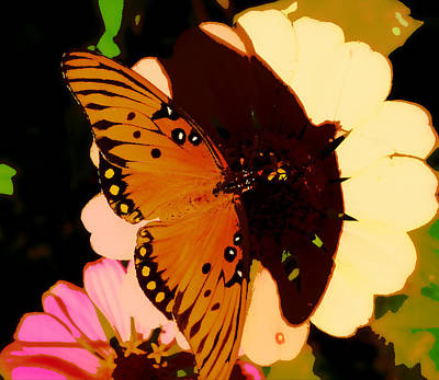Butterfly Shadows Art Print by Dottie Dees