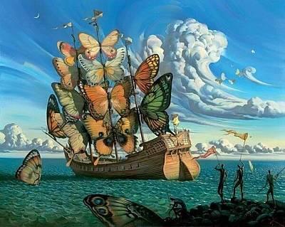 Pop Art - Butterfly Ship by Emo Lifeinc