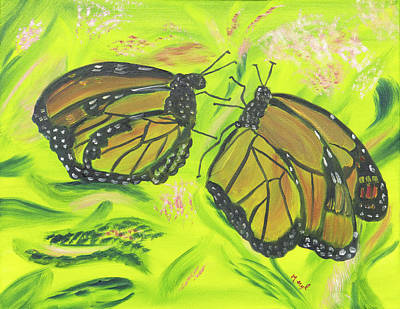 Painting - Butterfly Tango by Meryl Goudey