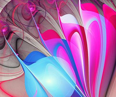 Colorful Digital Art - Butterfly Wing Pattern by Anastasiya Malakhova