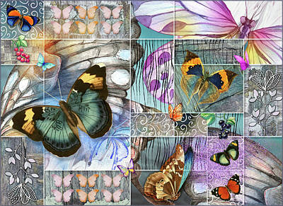 Digital Art - Butterfly Wings Collage by Linda Carruth