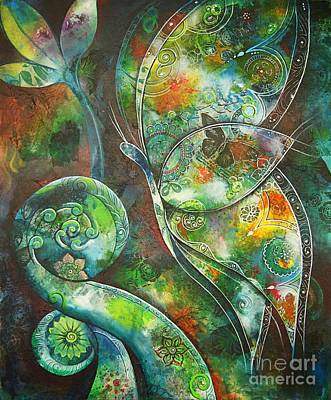Painting - Butterfly With Koru By Reina Cottier by Reina Cottier