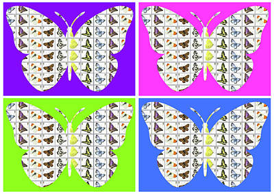 Digital Art - Butterfly X4 by Gary Hogben