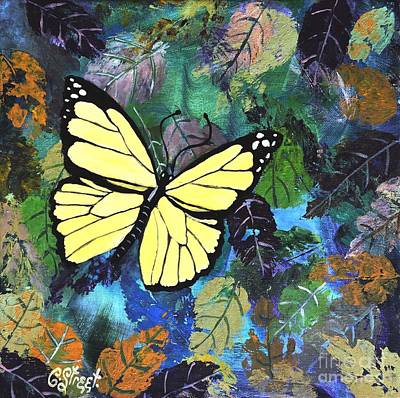 Painting - Butterfly Yellow by Caroline Street