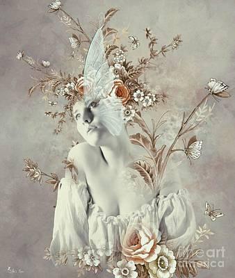 Digital Art - Butterflys All Around by Ali Oppy