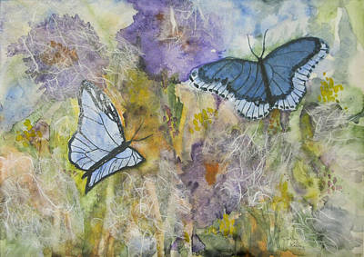 Painting - Butterflys On Color by Jerry Kelley